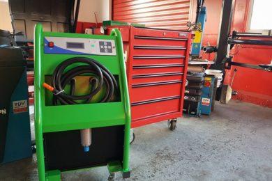 Машинно почистване на радиаторчета на парно